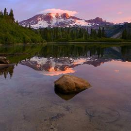 Rainier Dawn Breaking by Mike Dawson