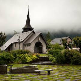 Rainy Church In Les Praz, Chamonix by Aivar Mikko
