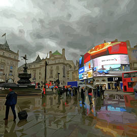 Rainy Day at Piccadilly Circus by Brian Shaw