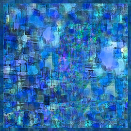 Rainy Day Blue Abstract by Michele Avanti