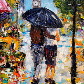 Alan Lakin - Rainy Day in Olde London Town