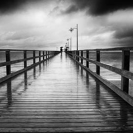 Frank Andree - Rainy day pier Bansin