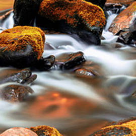 Roaring Fork Cascade - Indian Summer by Stephen Stookey