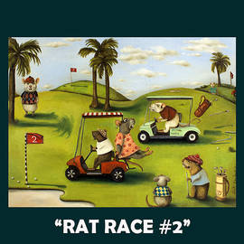 Rat Race 2 With Lettering by Leah Saulnier The Painting Maniac