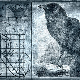 Raven Etching Photomontage - Carol Leigh
