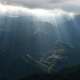 Rays Of Light In The Clouds - Raggi Di Luce Tra Le Nuvole Dell'alta Via Dei Monti Liguri by Enrico Pelos