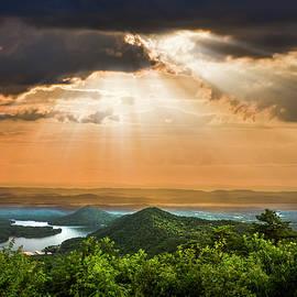 Rays over Blue Ridge by Debra and Dave Vanderlaan