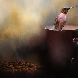 Ready For Morning Coffee - Hummingbird Art by Jai Johnson