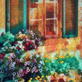 Ready to Water the Garden Oil Painting by Debra and Dave Vanderlaan