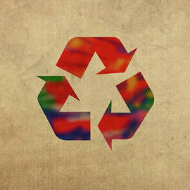 Recycle Symbol in Watercolor - Design Turnpike
