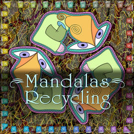 Recycling Mandalas by Becky Titus