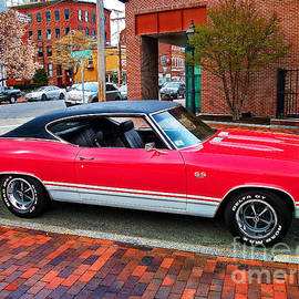 Red 68-69 Chevelle Ss 396 by Lita Kelley