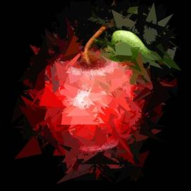 Red Apple Abstract by David Dehner