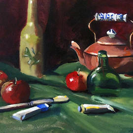 Red Apples and Paint by Nancy Griswold