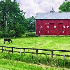 Priscilla Burgers - Red Barn and Horses