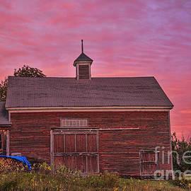 Alana Ranney - Red Barn at Sunset