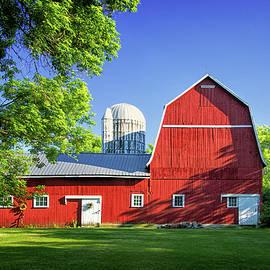 Red Barn in Auburn by Carolyn Derstine