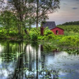 Joann Vitali - Red Barn in Country Setting