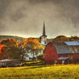 Joann Vitali - Red Barn in Fall - Peacham Vermont