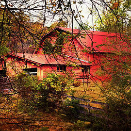 Red Barn in the Countryside by Debra and Dave Vanderlaan