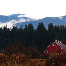 Marie Jamieson - Red Barn - Olympic Mountains