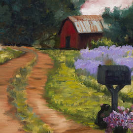 Red Barn Tin Roof Country Rd by Marilyn Nolan-Johnson by Marilyn Nolan-Johnson