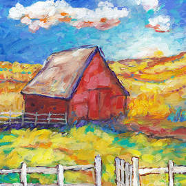 Peggy Johnson - Red Barn and Golden Fields