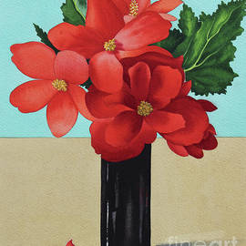 Red Begonias - Christopher Ryland