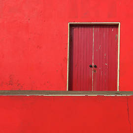 Patrick Dinneen - Red building abstract