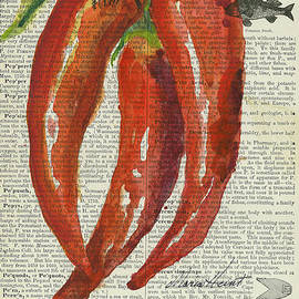 Red Chili Peppers by Maria Hunt