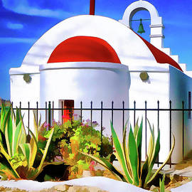 Bob Lentz - Red-domed Church Mykonos Greece