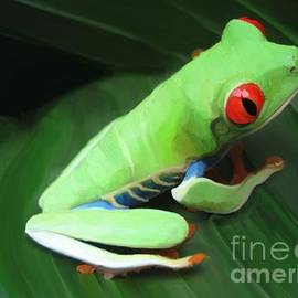 Red Eyed Tree Frog  by Aline Halle-Gilbert