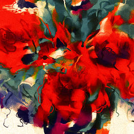 Red Flower Power by Natalie Holland