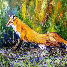 Manuel Lopez - Red Fox 24x18x3/4 inch oil on canvas