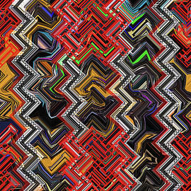 Tom Janca - Red Janca Panel Abstract #5247e9