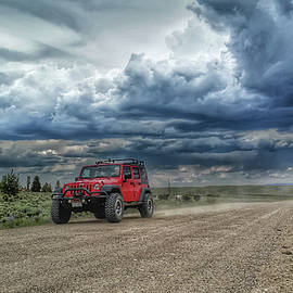 Red Jeep Ride by Christopher Thomas