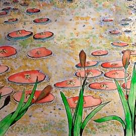 Red Lilly Pads by Robert Hilger