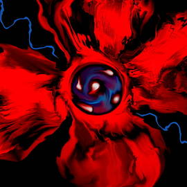 Abstract Angel Artist Stephen K - Red Poppy Abstract