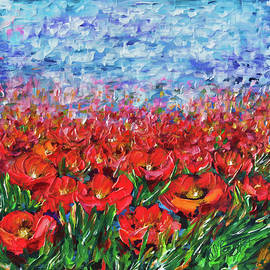 Lena  Owens OLena Art - Red Poppy Field