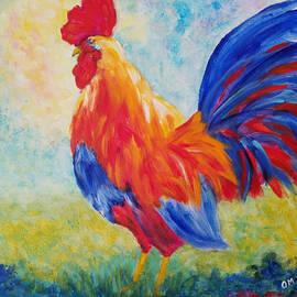 Red rooster by Olga Malamud-Pavlovich