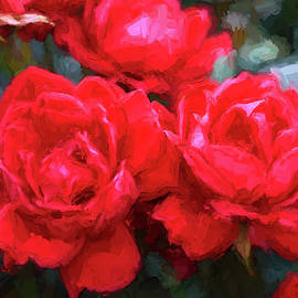 Allen Beatty - Red Roses - Photopainting