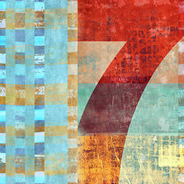 Carol Leigh - Red Seven and Stripes Mixed Media