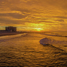 Bill Cannon - Red Skies Over Ocean City New Jersey