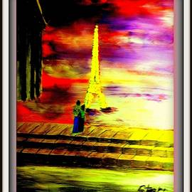 Red Sky In Paris  by Irving Starr