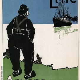 Studio Grafiikka - Red Star Line - Anvers New York - Retro travel Poster - Vintage Poster