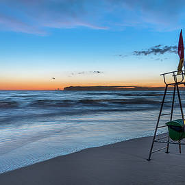 Red Sun In The Sunset Beach - Spiaggia Al Tramonto by Enrico Pelos