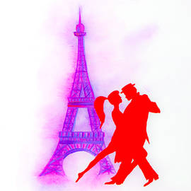 Red Tango In Paris by Iryna Goodall