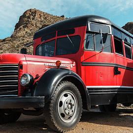 Red Truck in Desert