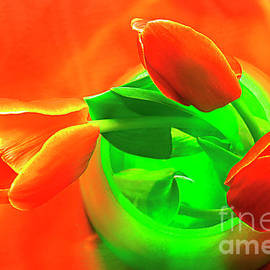 RED TULIPS in VASE # 5. by Alexander Vinogradov