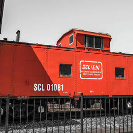 Red Vintage Caboose Highlighted by Doug Camara